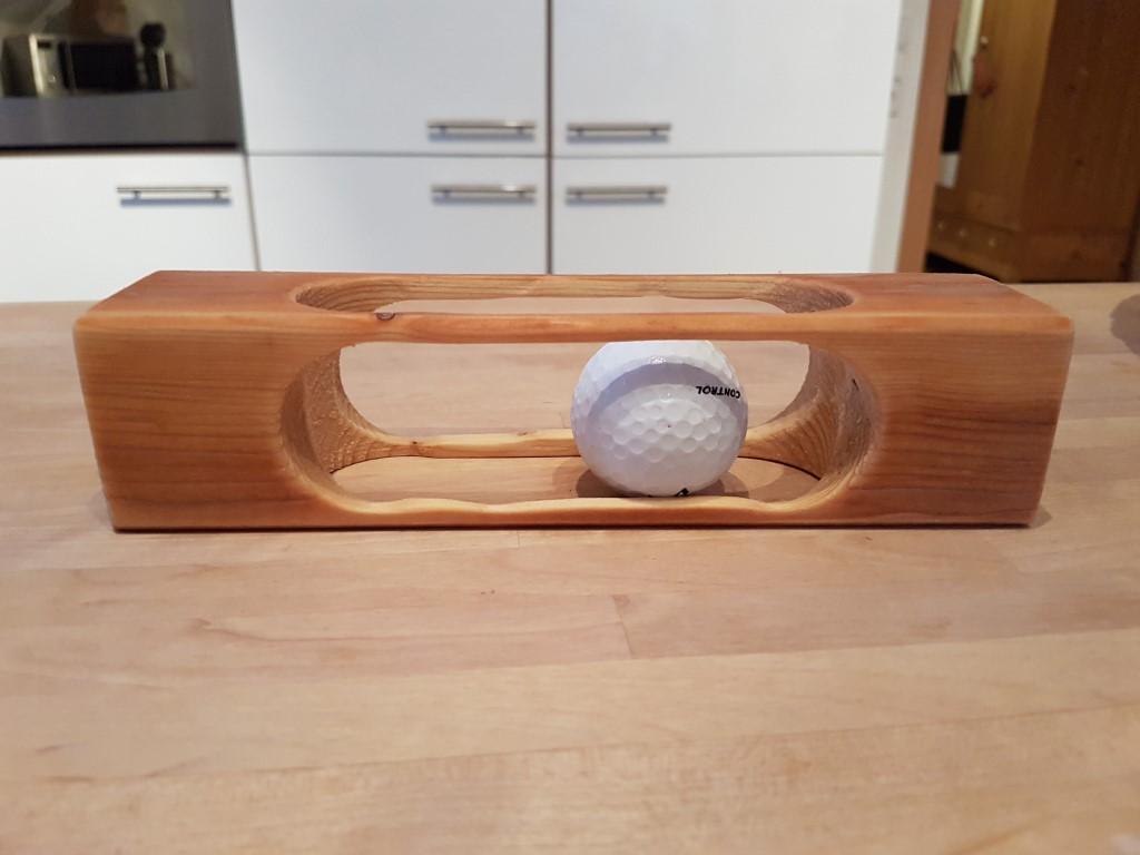 golfballr tsel aus holz holzarbeit aus meisterhand. Black Bedroom Furniture Sets. Home Design Ideas